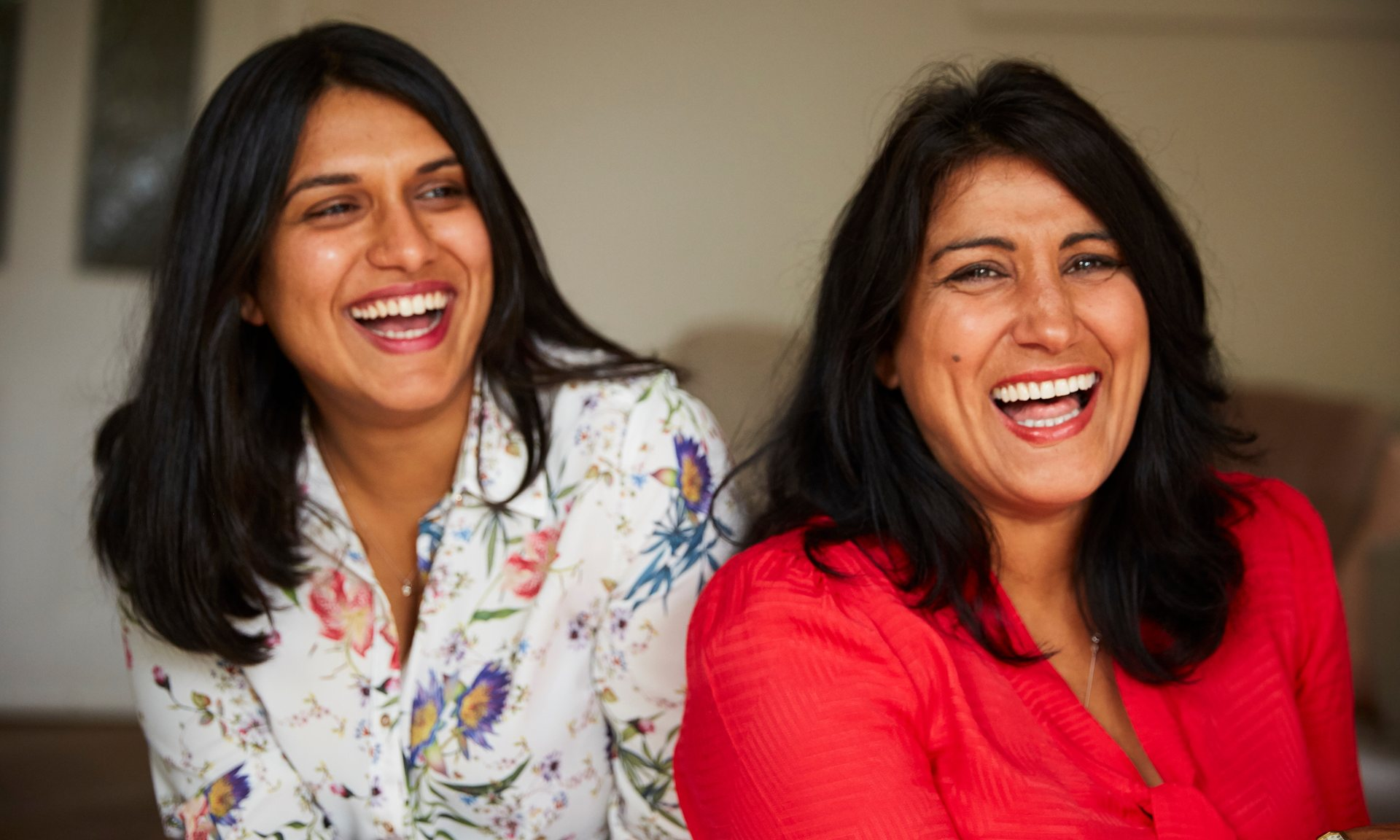 Jasvinder Sanghera (right), who refused a forced marriage as a teenager, with her daughter Natasha. Photograph: Christopher Thomond for the Guardian