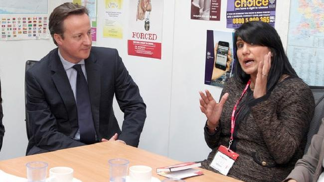 Jasvinder Sanghera and David Cameron