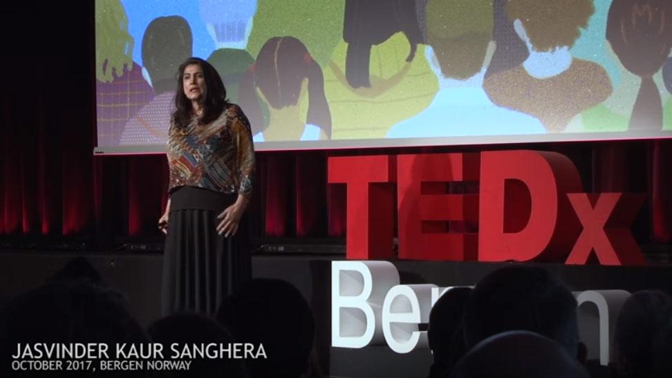 Jasvinder at TEDx Bergen
