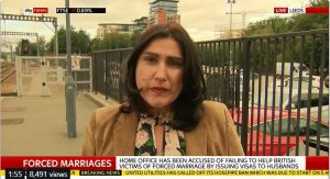 Jasvinder Sanghera being interviewed by SkyNews